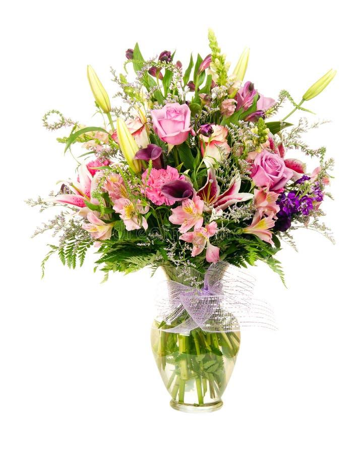 Colorful florist-made flower arrangement royalty free stock image