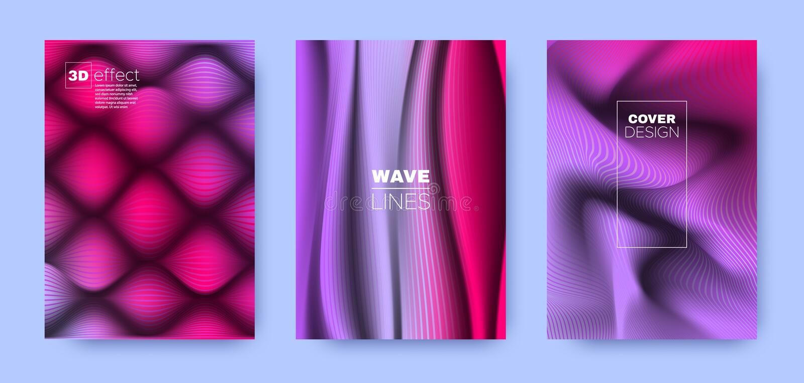 Colorful Flow Cover. Purple Abstract Shapes. vector illustration