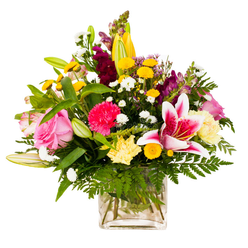 Colorful flower bouquet arrangement centerpiece royalty free stock photos