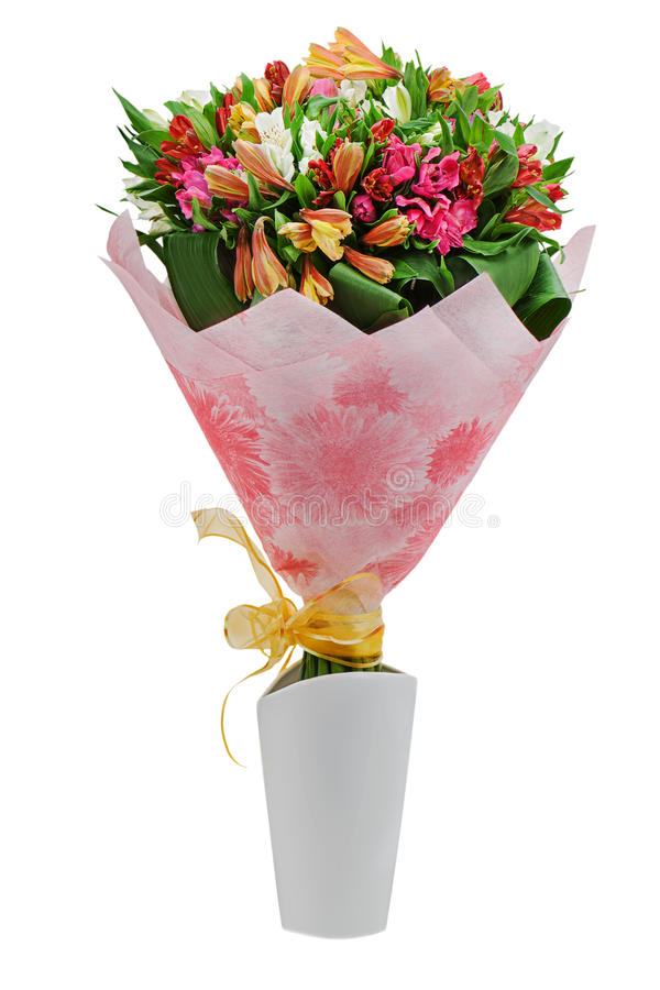 Free Colorful Flower Bouquet Arrangement Centerpiece Isolated Royalty Free Stock Photo - 29416105