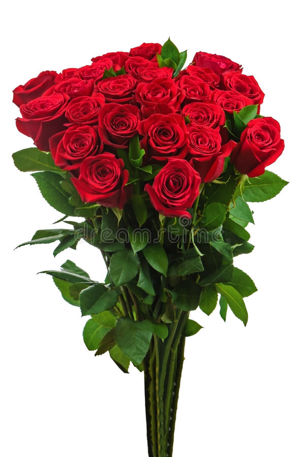 Download Colorful Flower Bouquet From Red Roses Isolated On White Backgro Stock Photo - Image: 35085488