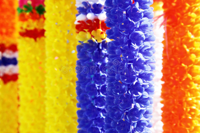 Colorful Flower Garlands Royalty Free Stock Photo