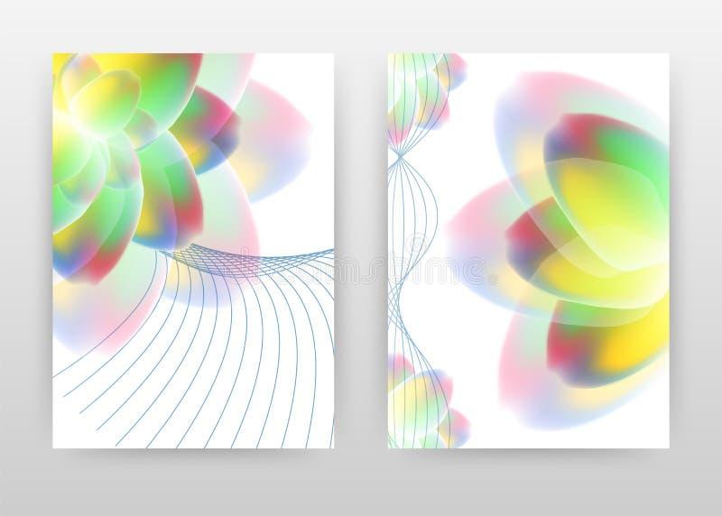 Colorful flower petal and waved lines design for annual report, brochure, flyer, poster. Flower petal background vector. Illustration for flyer, leaflet, poster vector illustration