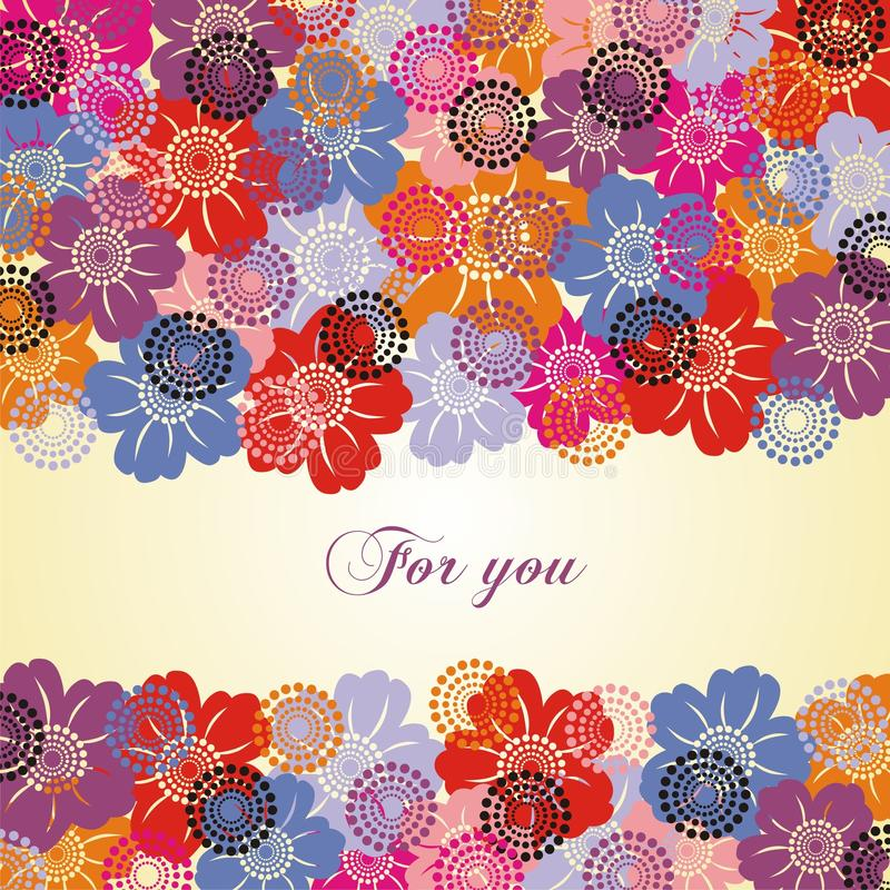 Free Colorful Flower Postcard Stock Photo - 13221360