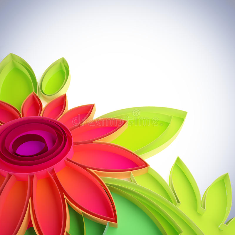 Download Colorful Flower In Quilling Techniques. Stock Illustration - Image: 19859042