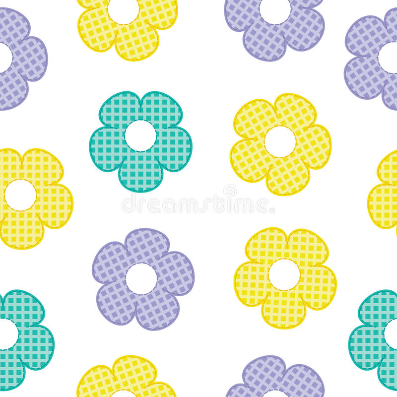 Colorful flower seamless pattern for baby clothes background and wallpaper stock photography