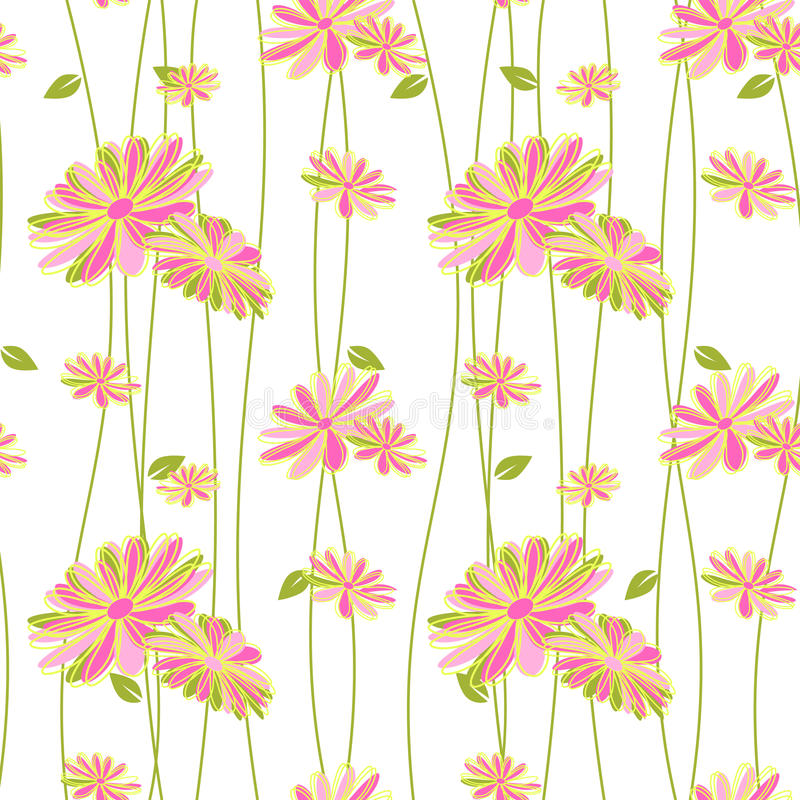 Download Colorful Flower Seamless Pattern Background Stock Vector - Illustration of seamless, card: 39505742