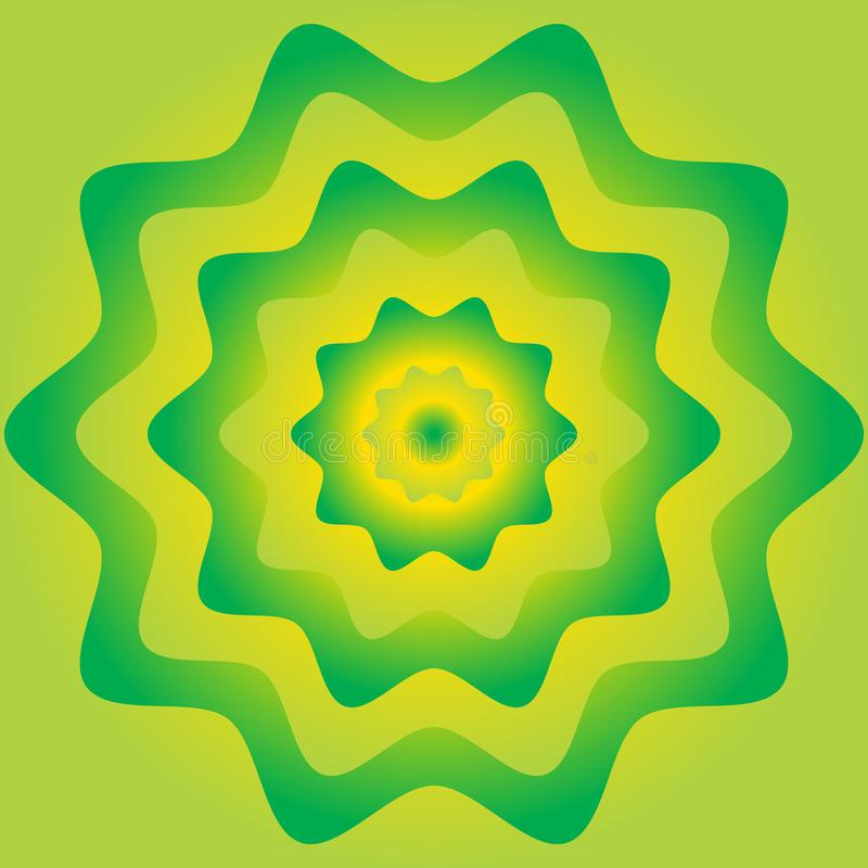 Colorful flower wheel gradient background. Green and yellow colo. R vector illustration