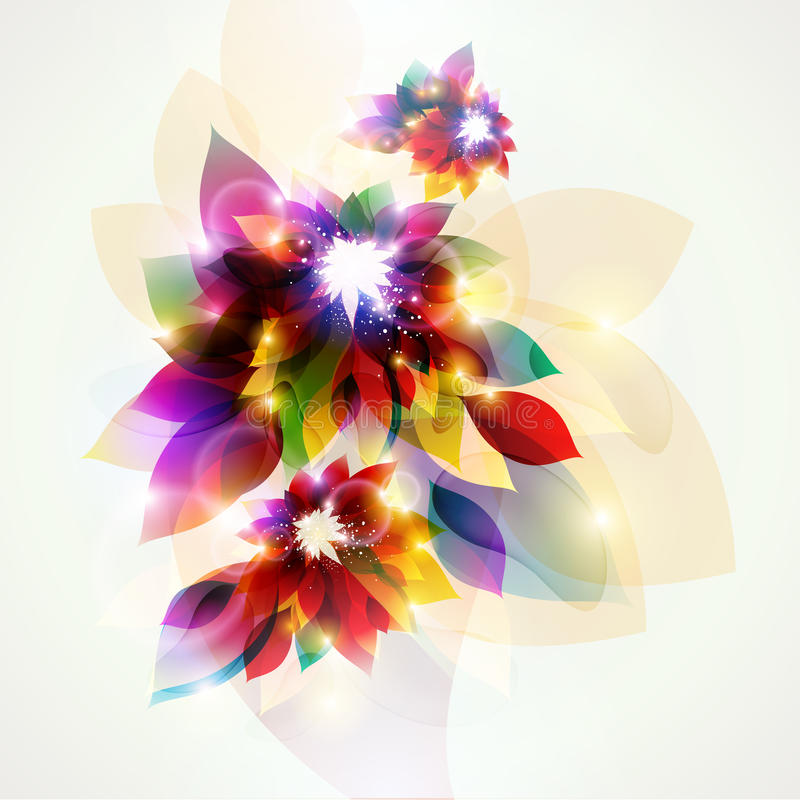 Colorful flowers. royalty free illustration