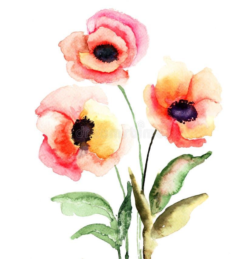 Download Colorful flowers stock illustration. Illustration of backdrop - 28640291