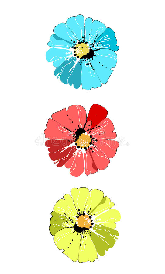 Download Colorful flowers stock vector. Illustration of concept - 28710511