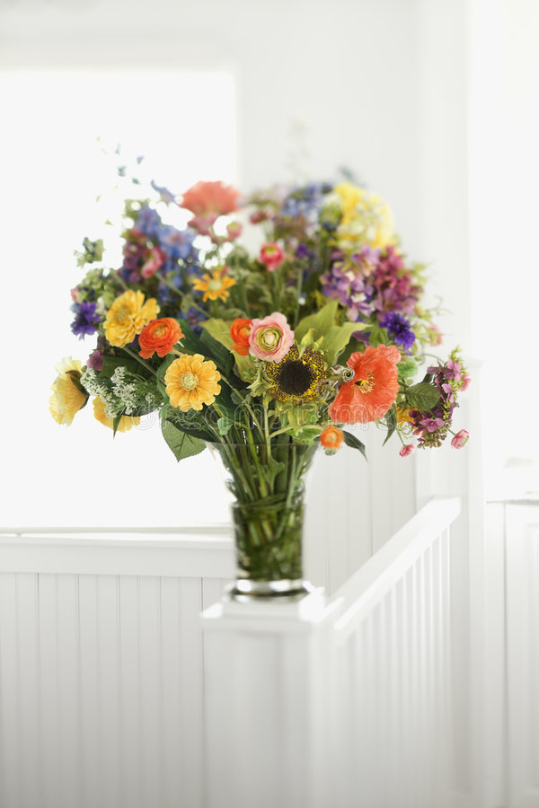 Colorful flowers arrangment royalty free stock photography