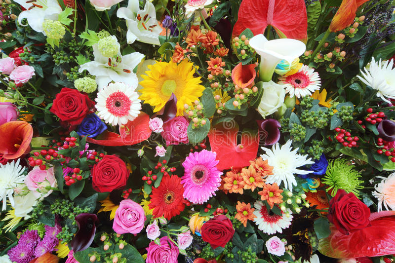 Colorful Flowers In Large Bouquet Stock Image - Image of aroma ...
