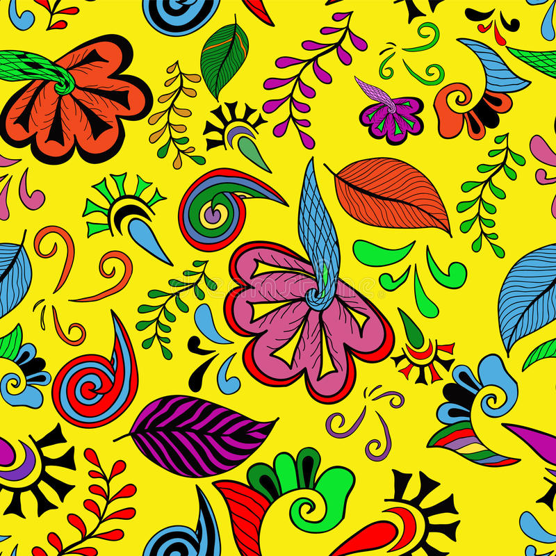 Colorful flowers seamless royalty free stock photos
