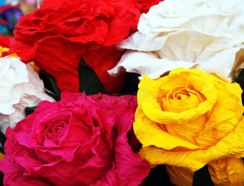 Colorful Flowers at the Street Market royalty free stock photos