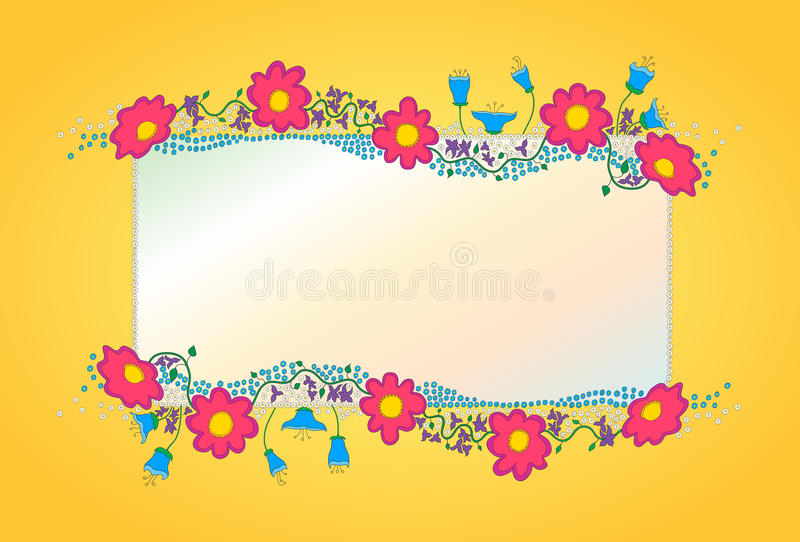 Colorful flowers vector background stock photo