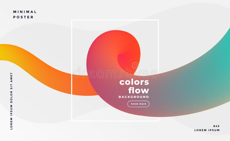Colorful fluid loop banner background stock illustration
