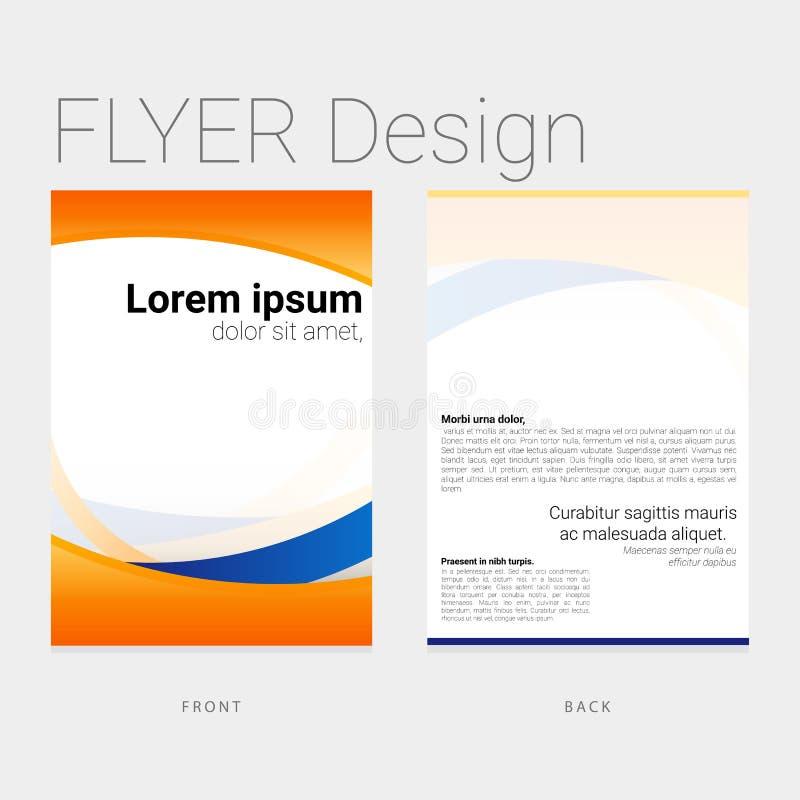 Colorful flyer design stock illustration