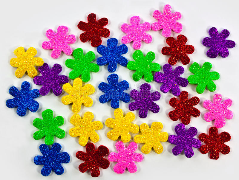 Download Colorful foam flowers stock photo. Image of hobby, isolated - 27682588