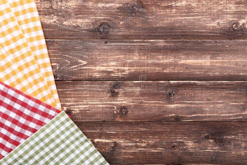 Colorful folded napkins royalty free stock image