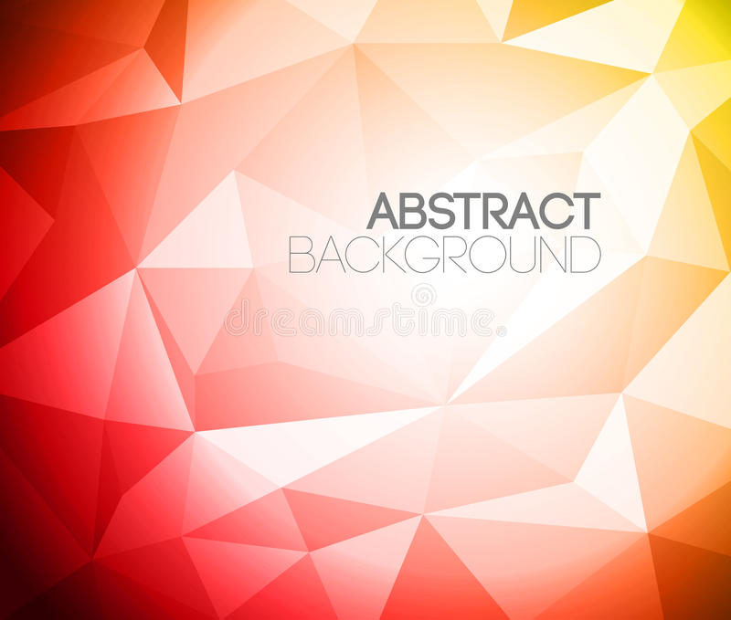 Colorful folded paper background. Yellow and red vector illustration