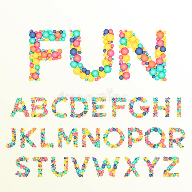 Download Colorful Font And Alphabet Letters Best For Fun Celebration Sty Stock Vector