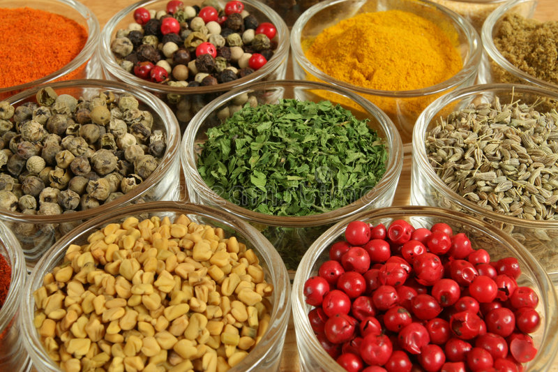 Colorful food stock image