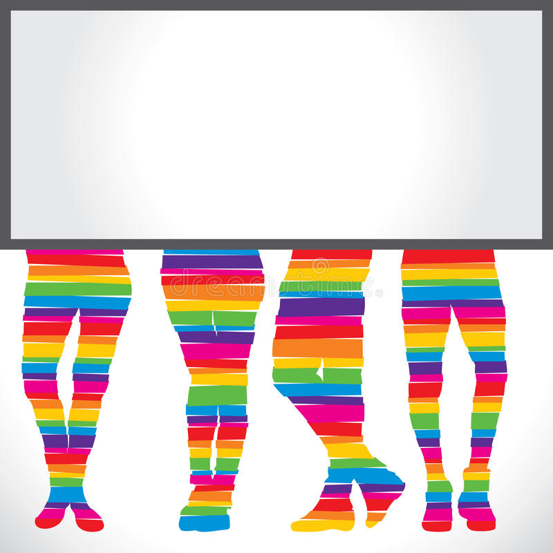 Download Colorful foot  background stock vector. Image of beautiful - 29080621
