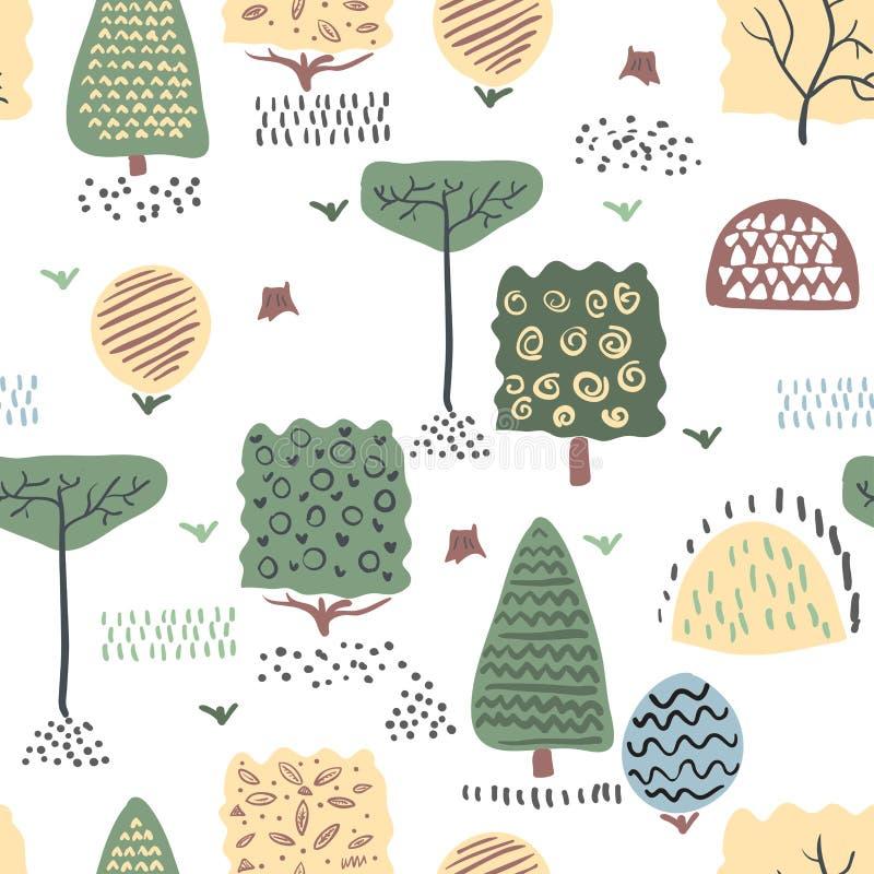 Forest seamless pattern. Vector illustration. vector illustration
