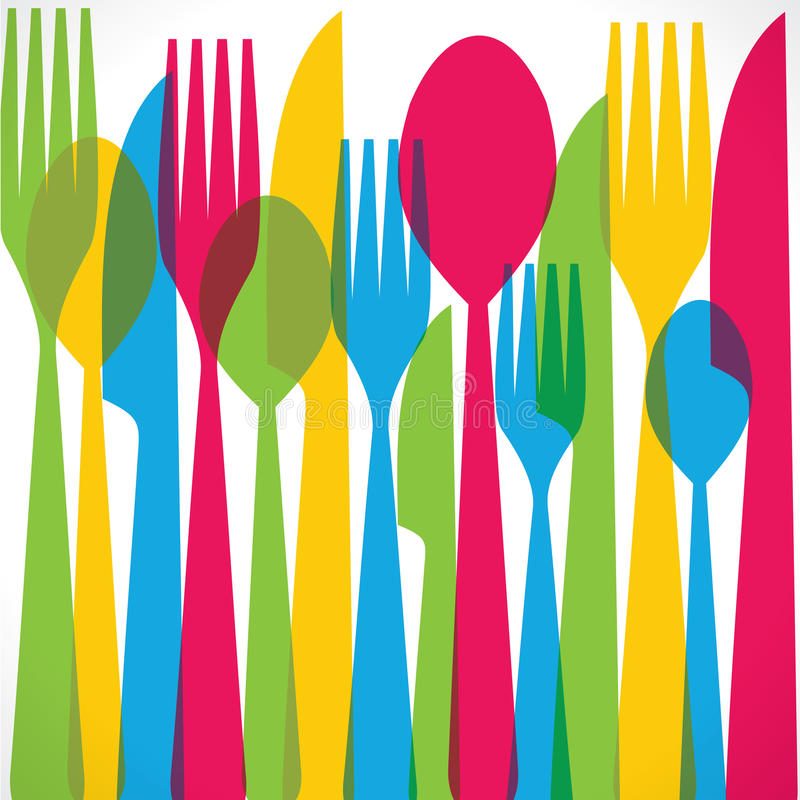 Download Colorful fork background stock vector. Illustration of object - 29734675