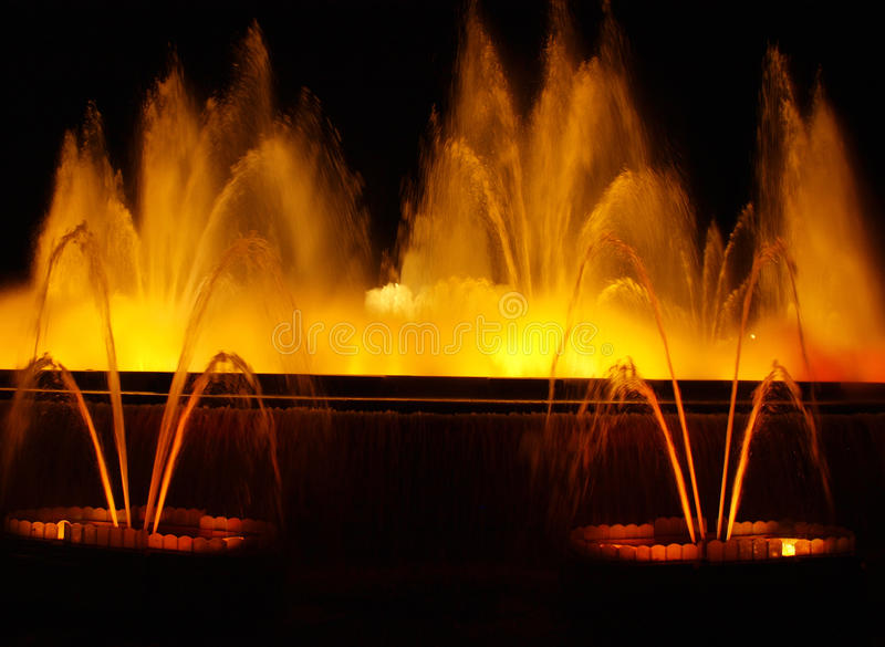 Colorful fountain royalty free stock photography