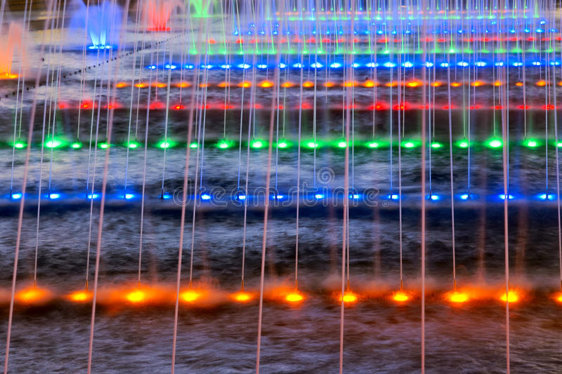 Colorful Fountain Royalty Free Stock Images