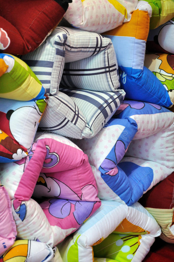 Colorful Frabric Pillow Royalty Free Stock Photos