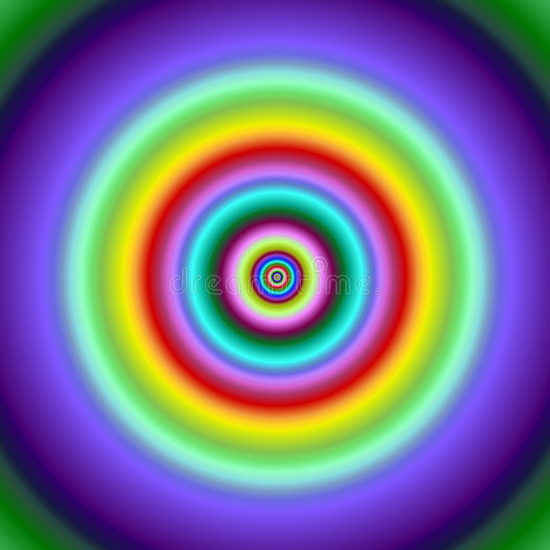 Colorful fractal circles target image. royalty free illustration