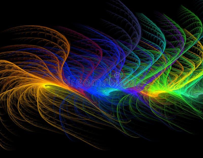 Colorful fractal illustration vector illustration