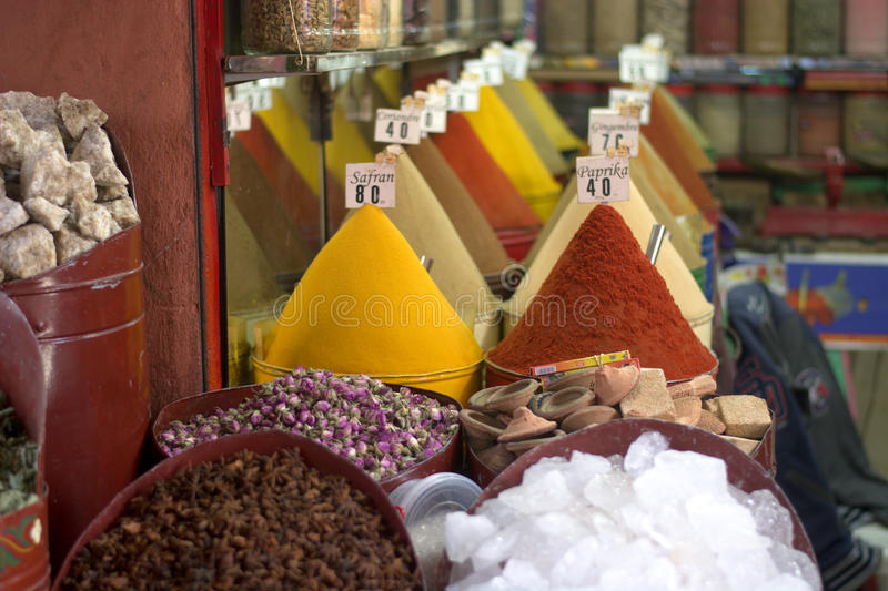 Colorful and fragrant spices in the Eastern markets stock photography