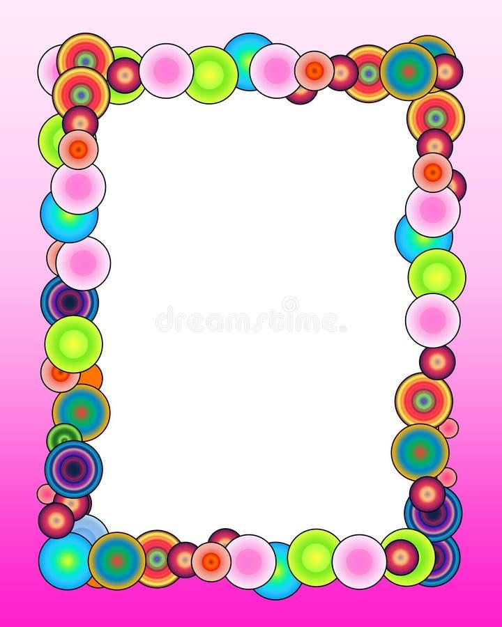 Colorful Frame on Pink Background royalty free illustration