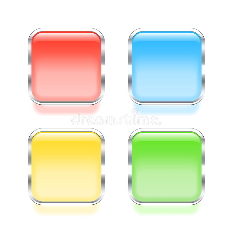 Colorful framed web buttons royalty free illustration