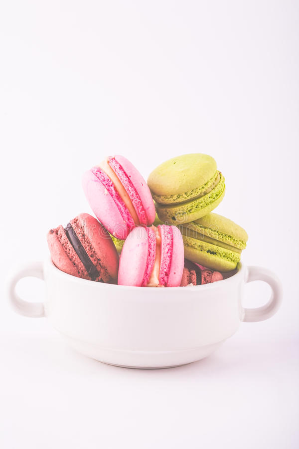 Colorful French Macarons royalty free stock photos