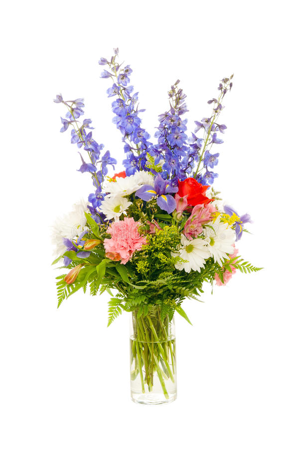 Colorful fresh flower arrangement centerpiece royalty free stock photography