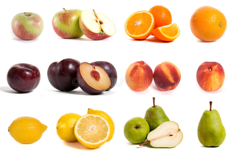 COLORFUL FRESH GROUP OF FRUITS stock photos
