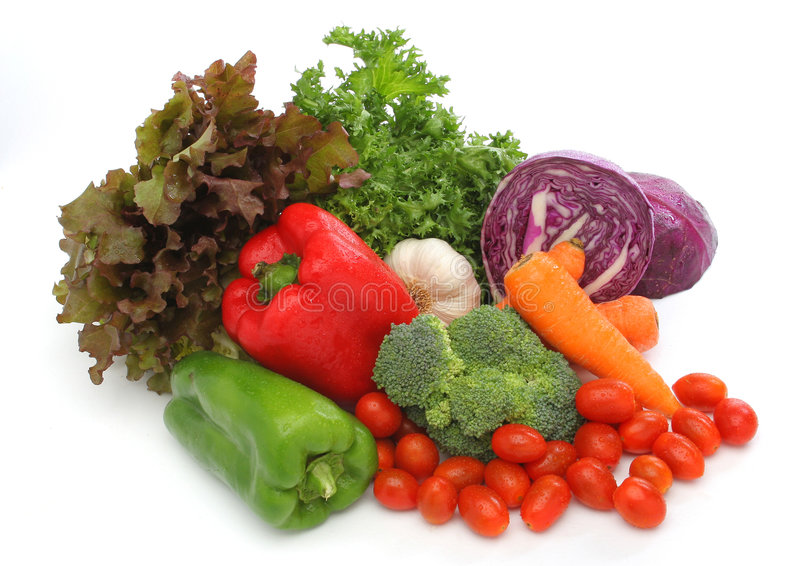 Colorful fresh group of vegetables royalty free stock photo