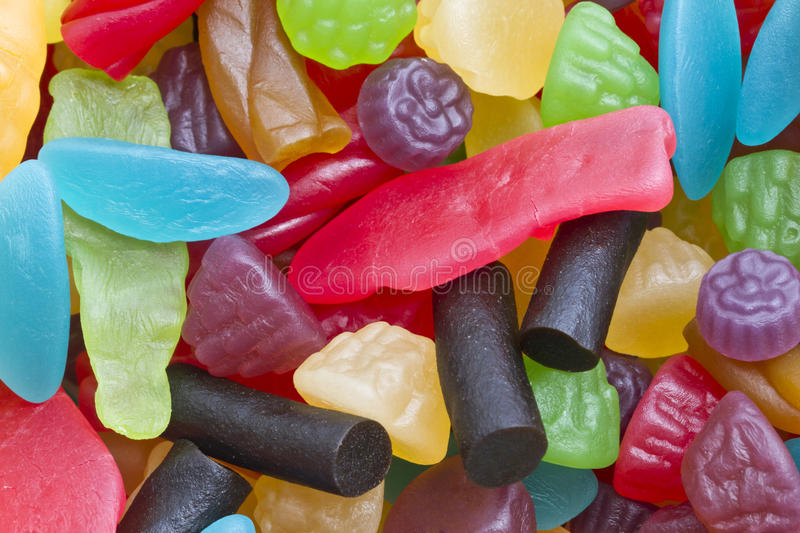 Colorful Friuts Candy Stock Photography