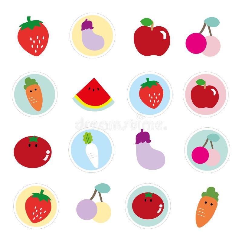 Colorful Fruits And Vegetables Stock Illustration - Illustration Of Lively,  Orange: 50648804