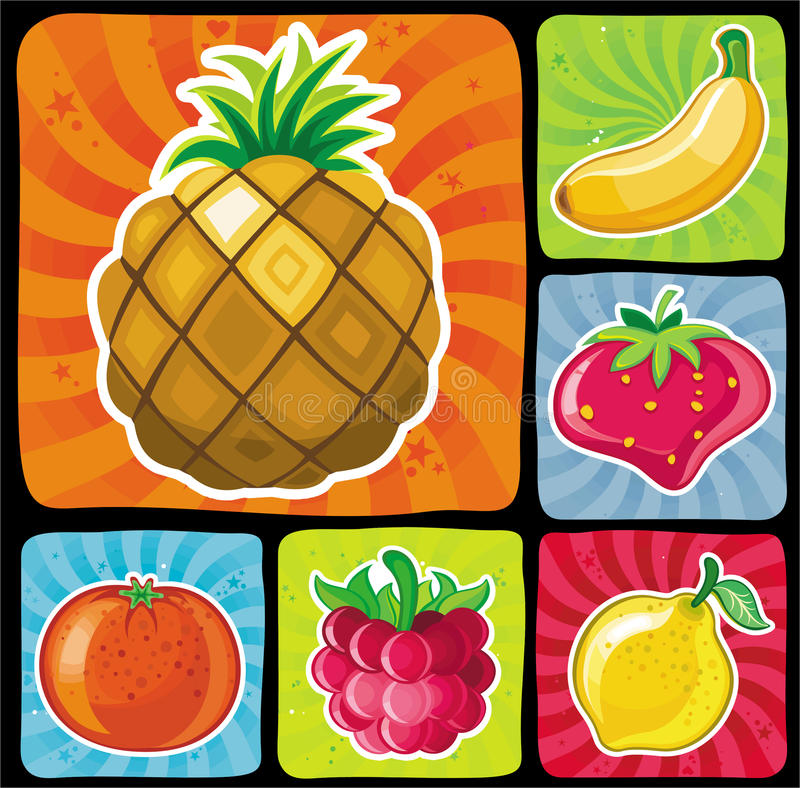 Free Colorful Fruity Icons Set 2 Stock Photography - 14577632