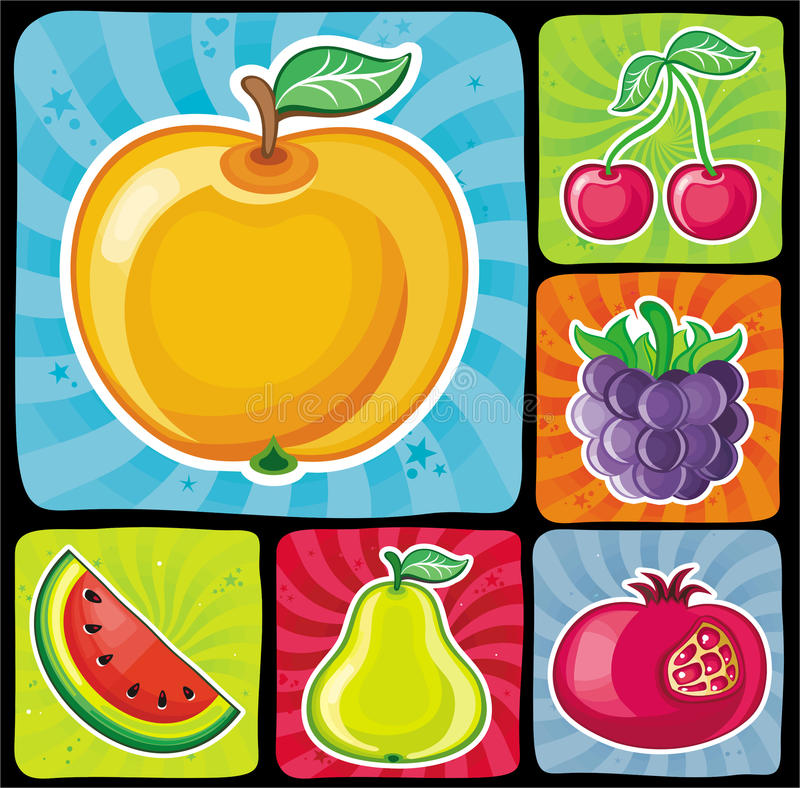 Free Colorful Fruity Icons Set 2 Stock Photo - 14577650