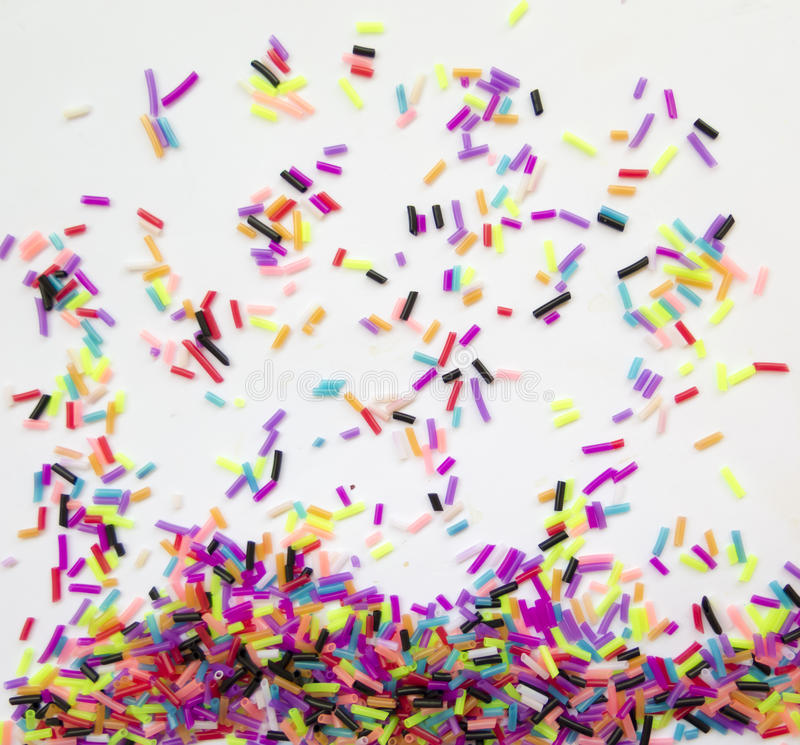 Colorful, fun background of colorful small pieces royalty free stock photos