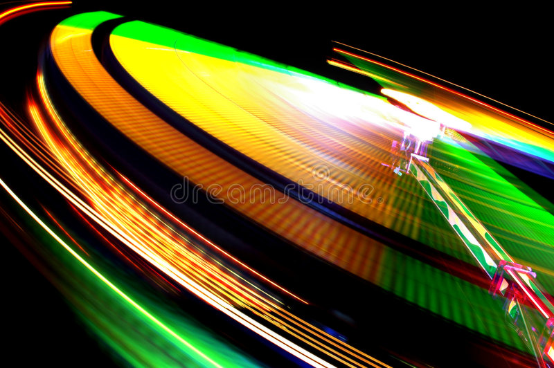 Colorful Funfair Lights royalty free stock photo