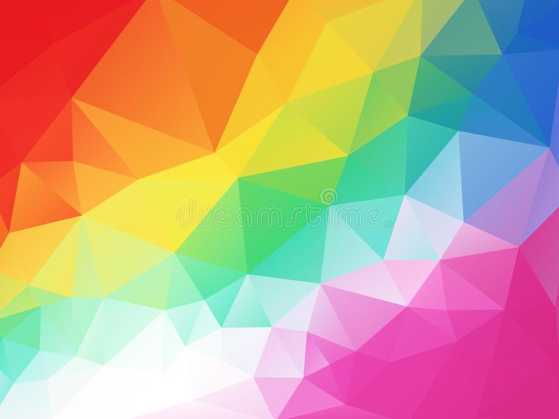 Colorful funny children geometric background royalty free illustration