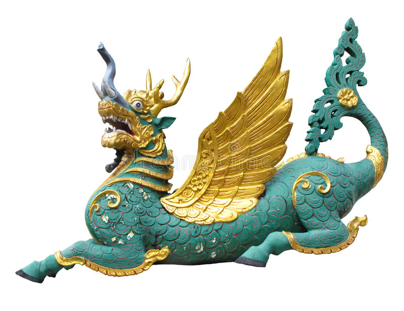 A colorful funny dragon the animals in Thai literature or fantasy story royalty free stock photo